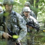 Army cadets from Alpha Company in the field during their Soldier First Responder Training at Camp Buckner at the United States Military Academy in West Point, NY on Thursday, July 7, 2011. The Army has implemented a tourniquet-first policy in training new