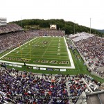 Army and Northwestern on the field in front of 35,784 fans during their game in Michie Stadium at the United States Military Academy in West Point, NY, on Saturday, September 17, 2011. Army defeated Northwestern 21 - 14.  CHET GORDON/Times Herald-Record